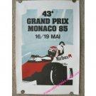 43rd Grand Prix Monaco 1985  16/19 Mai (Official Large Art Reprint 1991)