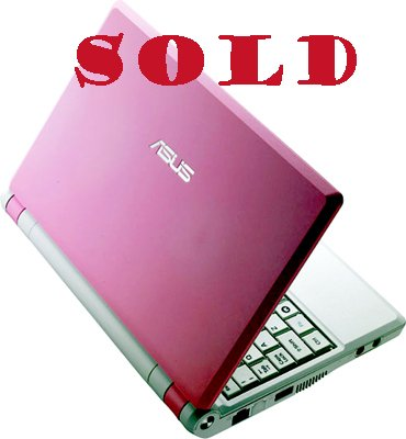 "ASUS EEE PC 2G SURF BLUSH PINK 7"" LCD, 512MB"