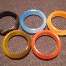 Agate Rings - 5 Rings
