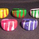 Lucite Rings - 5 Rings