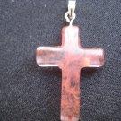 Hand Carved Jade Cross Pendant