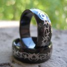 Black Stainless Steel - Tribal Heart Design