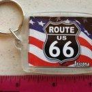 Route 66 Keychain - Arizona - American Flag Keychain