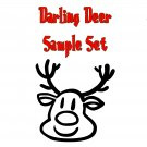 Darling Deer Christmas (sample set)  Darling Girl Cosmetics
