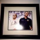 Landon Donovan & David Beckham Autographed 8x10 Photo w/ Custom Frame