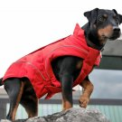 "Fleece Winter Jacket for Dogs, (S/M) 13-3/4"" Red"