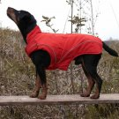 "Warm Dog Winter Coat w/ Fleece Lining, (M) 15.5"" Red"