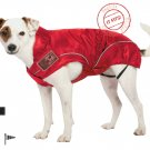 "Dog Rain Jacket / All-Year Jacket, (L) 19-3/8"", Red, Water Resistant"