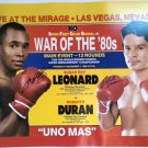 Sugar Ray Leonard & Roberto Duran Signed 16x20 Photo