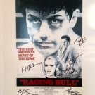 Raging Bull Cast Autographed 16x20 Photograph