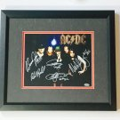 AC/DC Band Autographed 8x10 Photograph Custom Framed