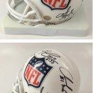 NFL Crest Mini Helmet Signed by Kaepernick / Griffin III / Wilson / Luck