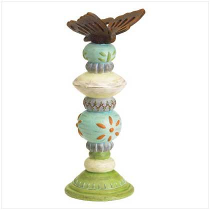 Garden Totem Pole Candleholder SALE