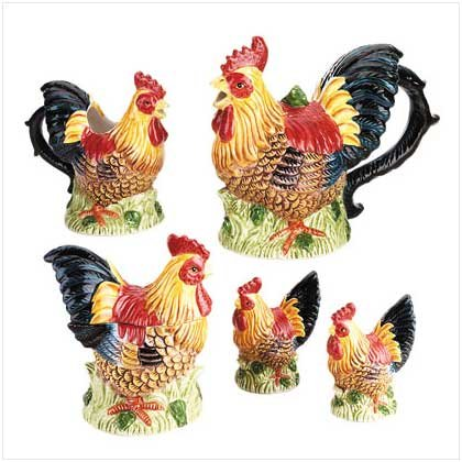 Rooster Tea Set - For Decorative Purposes