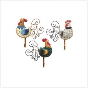 Rooster Wall Hooks