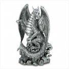 Fierce Black Dragon Figurine