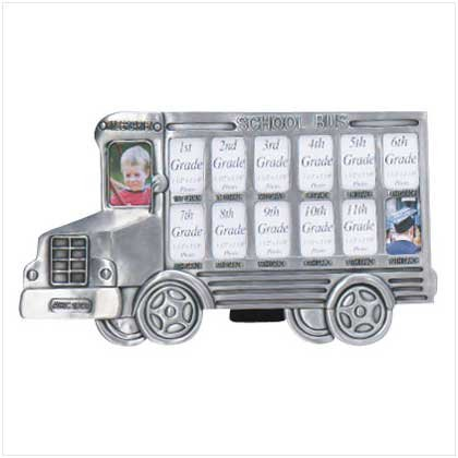 Pewter-Finish School Bus Frame
