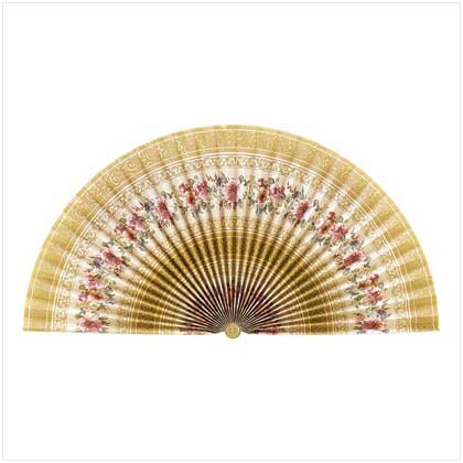 French Floral Decorative Fan