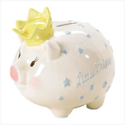 Mud Pie Prince Piggy Bank