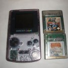 Nintendo Game Boy Color Atomic Purple Handheld System W/ 2 games