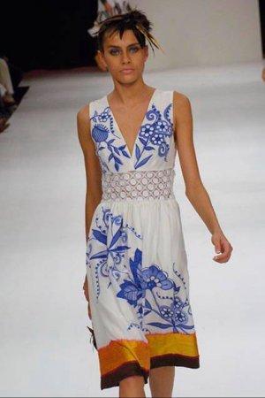 CHLOE Graphic Print Silk Dress