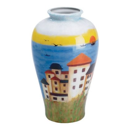 Patchwork Fabric Vase-Coast -