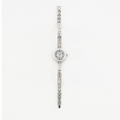 Silver Clear Crystal Link Watch