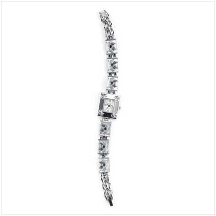 Black Butterfly Silver Link Watch
