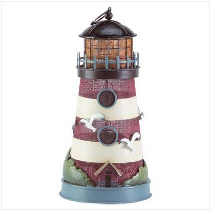 METAL PAINTED LIGHTHOUSE LAMP