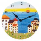 Patchwork Fabric Clock-Coast