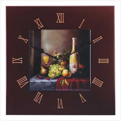 Grapes Wine Wall Clock
