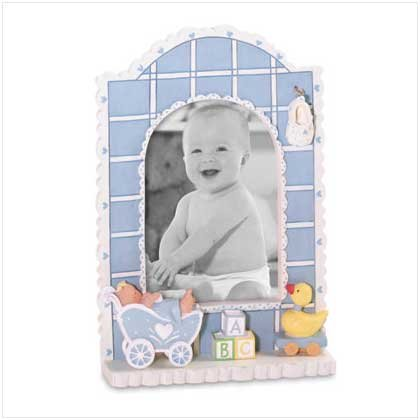 Baby Boy Quilt Photo Frame