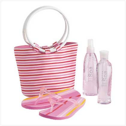 Tote Bag/Flip Flops/Lotion Set