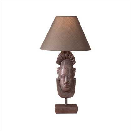 African Mask Lamp