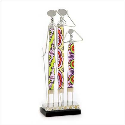 Masai Family Figure - Glass