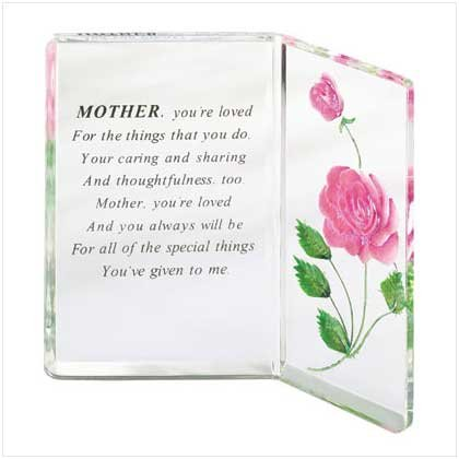ACRYLIC MOTHER'S PLAQUE