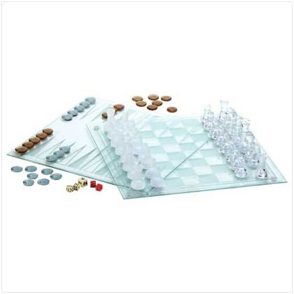 3 In 1 Chess Set Crystal Game Set