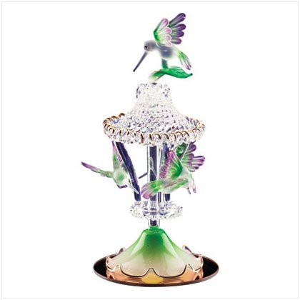 COLOR GLASS H-BIRDS CAROUSEL
