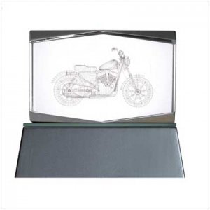 Motorcycle Cube with Led Base
