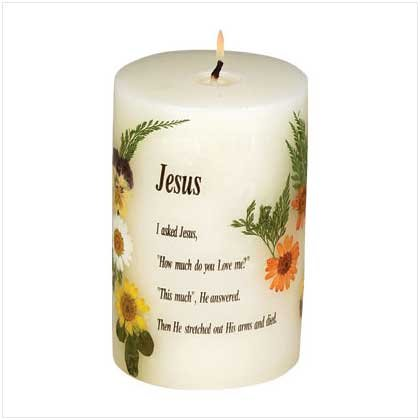 JESUS SCENTED DRIED FLOWERS CANDLE