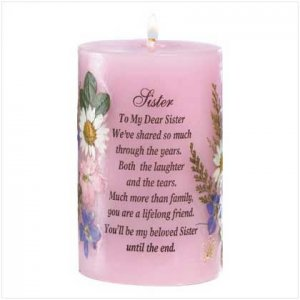 Sister Dried Flowers Candle