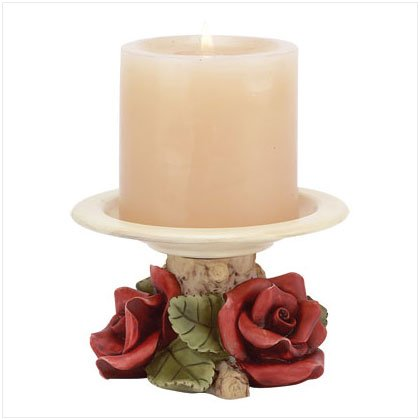 RED ROSES VOTIVE CANDLE HOLDER