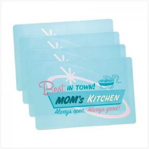 Moms Kitchen Vinyl Placemats