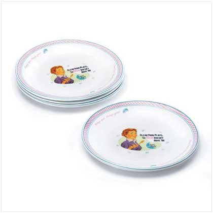Mom Kitchen Dinner Plates (4 Plates)