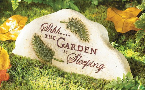 Sleeping Garden Stone And Key Hider