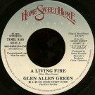 "GLEN ALLEN GREEN--""""A LIVING FIRE"""" (3:55)/""""ARTIST INTRODUCTIONS & COMMENTS"""" (2:30) 45 RPM 7"""" Vin"
