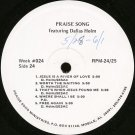 DALLAS HOLM--PRAISE SONG FEATURING DALLAS HOLM Vinyl LP