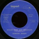 "GORDON JENSEN--""""BIGGER THAN ANY MOUNTAIN"""" (3:23) (STEREO/MONO) 45 RPM 7"""" Vinyl"