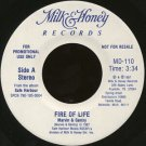 "MARVIN & GENTRY--""""FIRE OF LIFE"""" (3:34)/""""SEPARATE JOURNEYS"""" (3:15) 45 RPM 7"""" Vinyl"