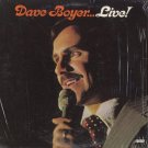 DAVE BOYER--DAVE BOYER...LIVE Vinyl LP